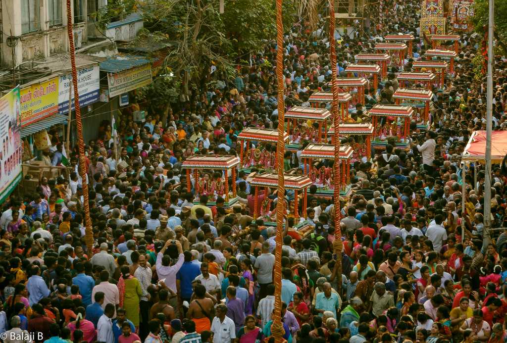 Deity taken out in procession