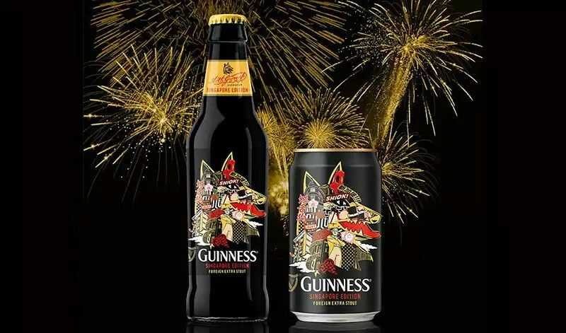 Guinness Foreign Extra Stout Beer of Singapore