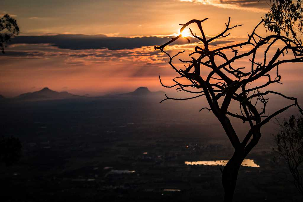 Sunset in Nandi Hills
