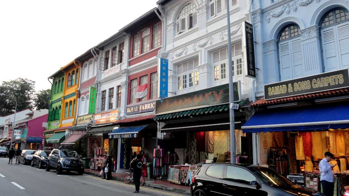 Shophouses along Arab Street Singapore
