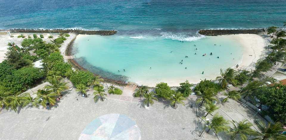 Artificial Beach in Maldives