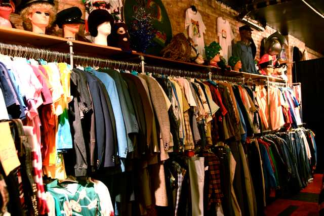 The variety of clothing available at Manjeera mall