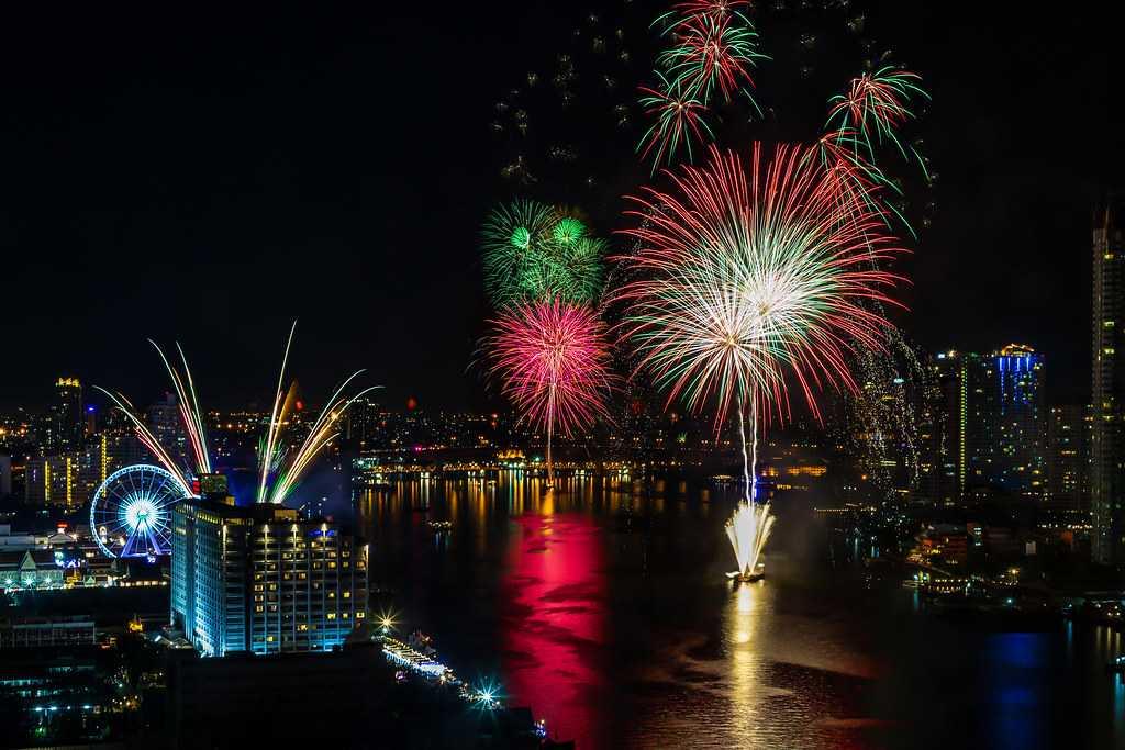 New Year Celebrations in Bangkok, Thailand