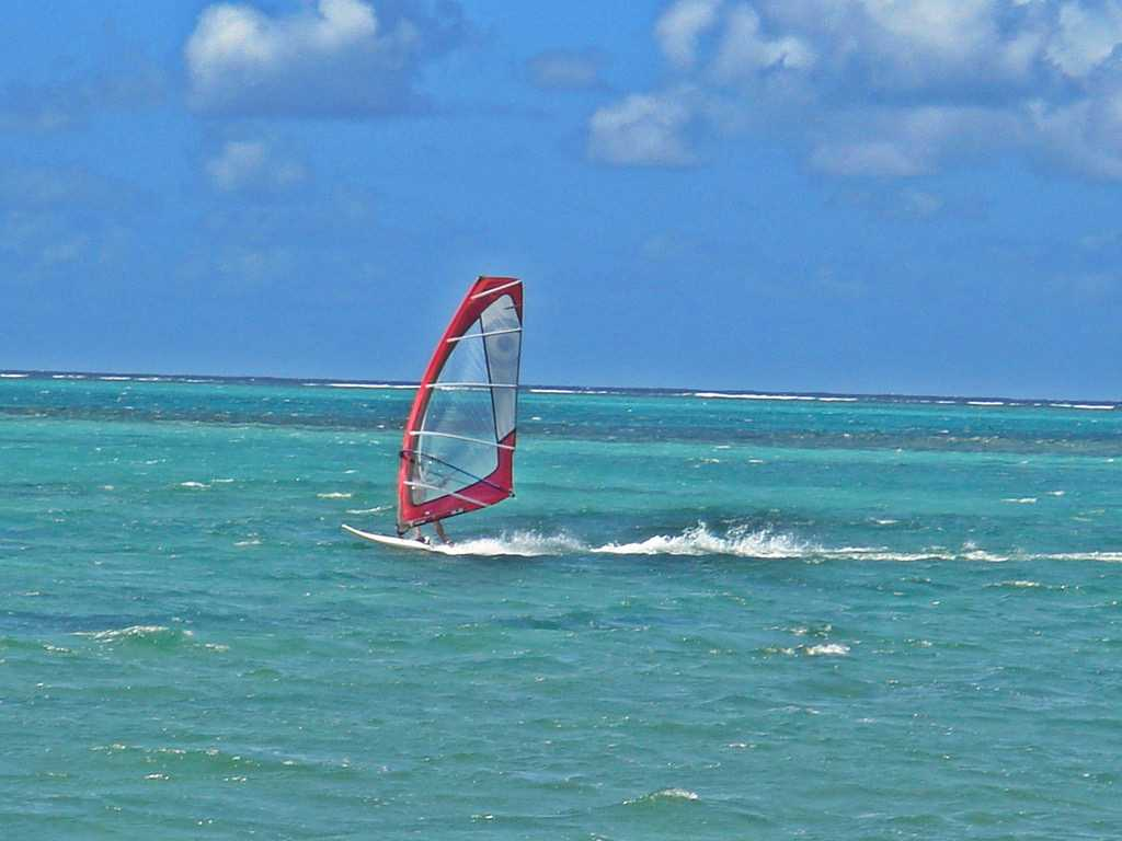 Wind Surfing, water sports in mauritius