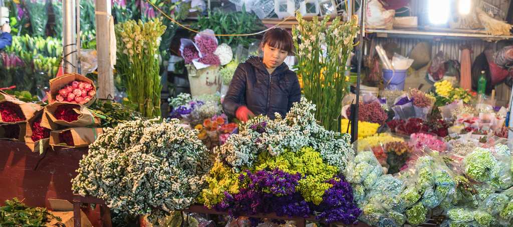 Quang Ba Flower Market, Shopping in Vietnam, Flower Markets in Vietnam, Shopping in Hanoi
