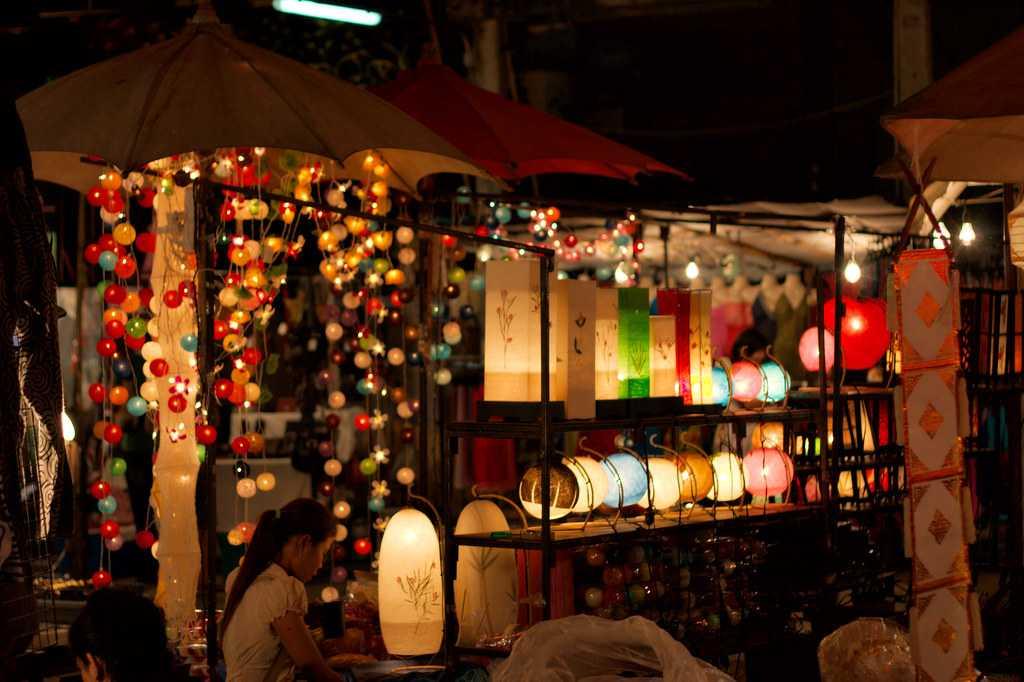 Night Bazaar in Chiang Mai, Thailand