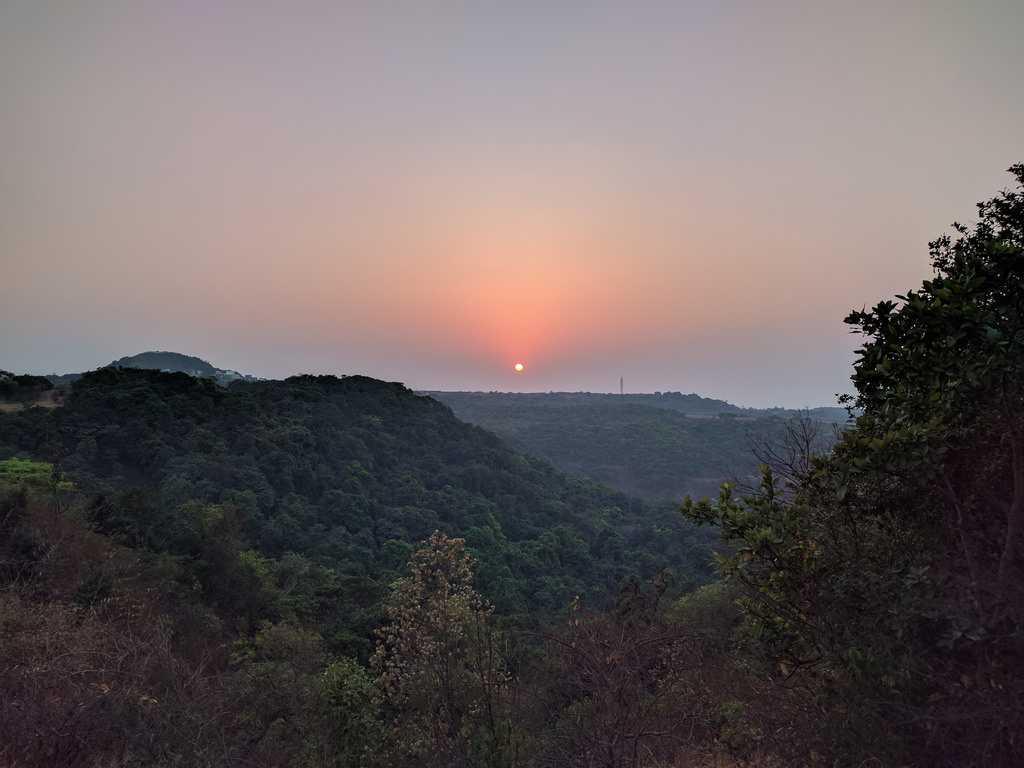 Sunset at Machaan Resort