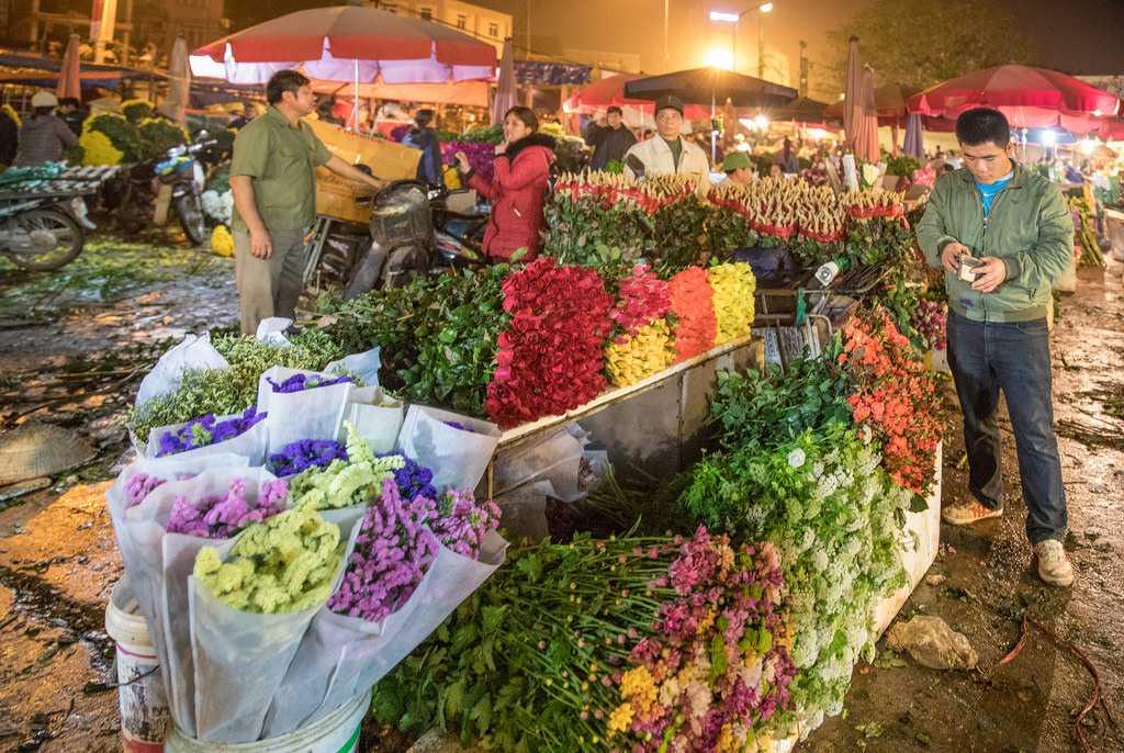Quang Ba Flower Market Hanoi Vietnam