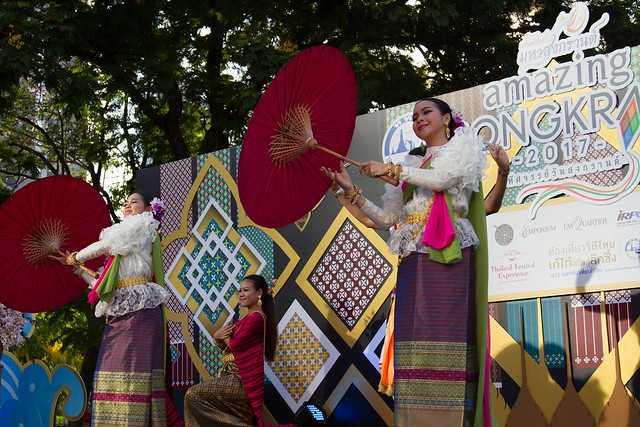 Songkhran Festival celebrations at Benchasiri Park
