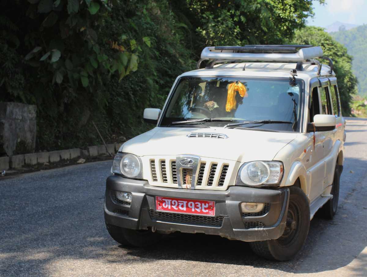 Renting a car in Nepal