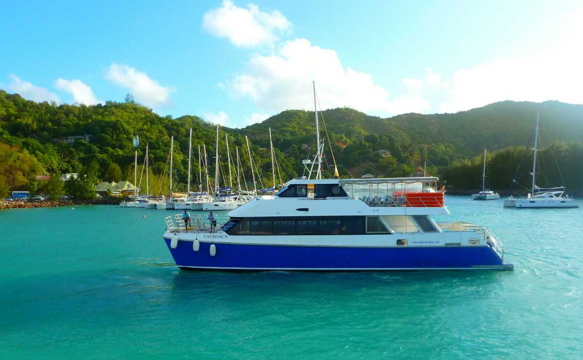 Inter Island Ferry from Praslin to La Digue, Island hopping in Seychelles