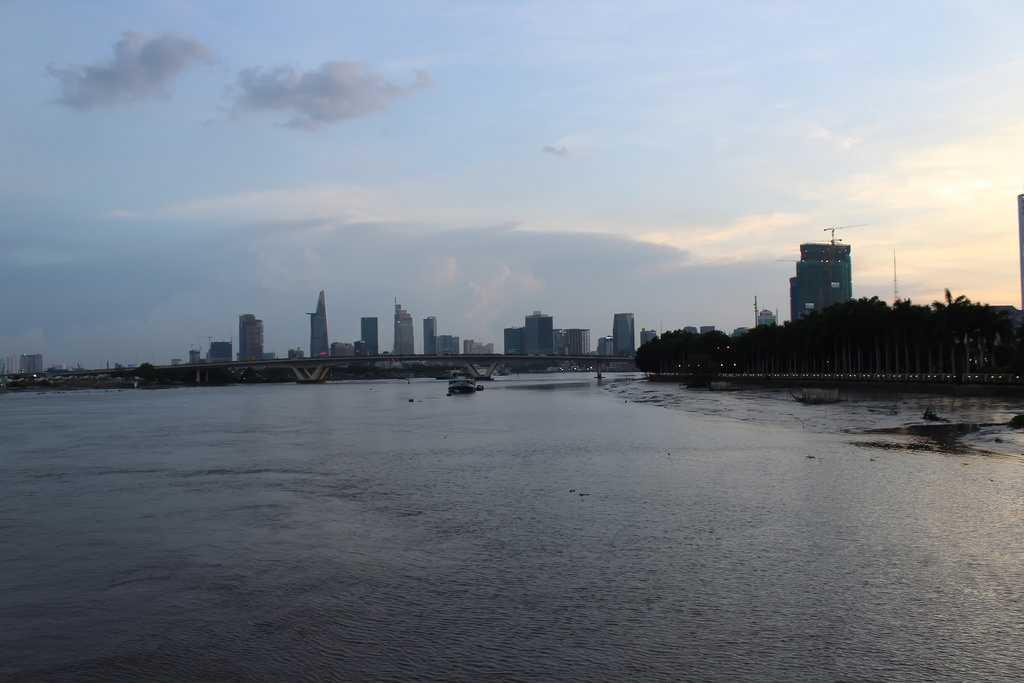 Ho Chi Minh City Skyline over Saigon River