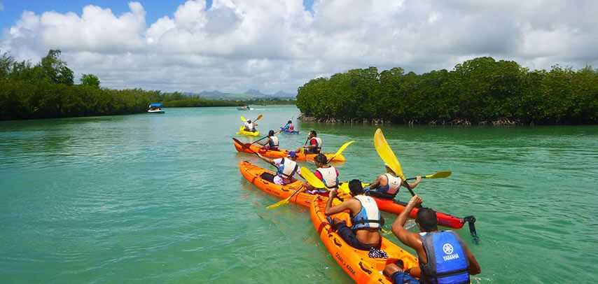 Sea Kayaking, sea and water excursions in Mauritius, excursions in Mauritius