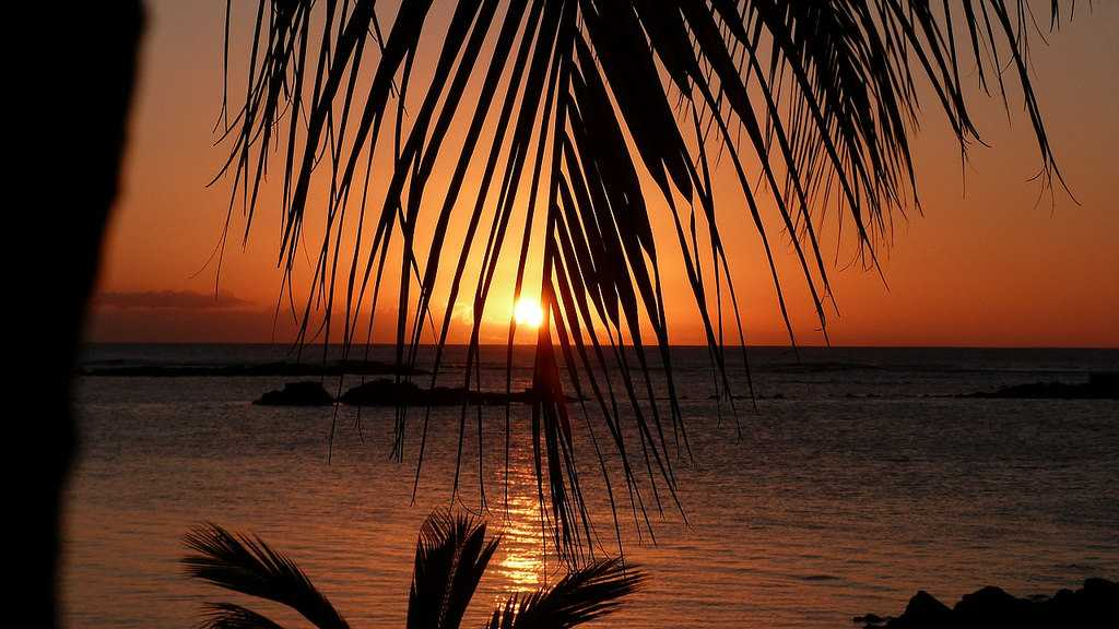 Sunset, Mauritius in September