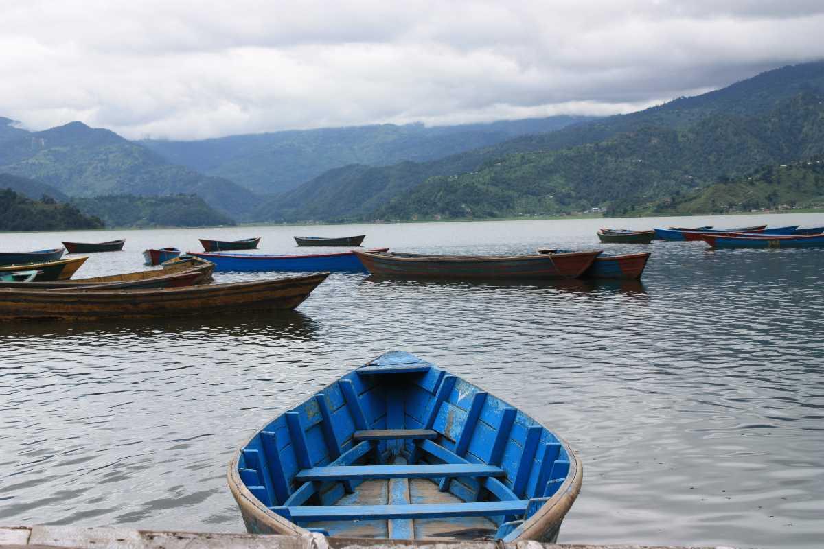 Boating at Phewa Lake in Nepal