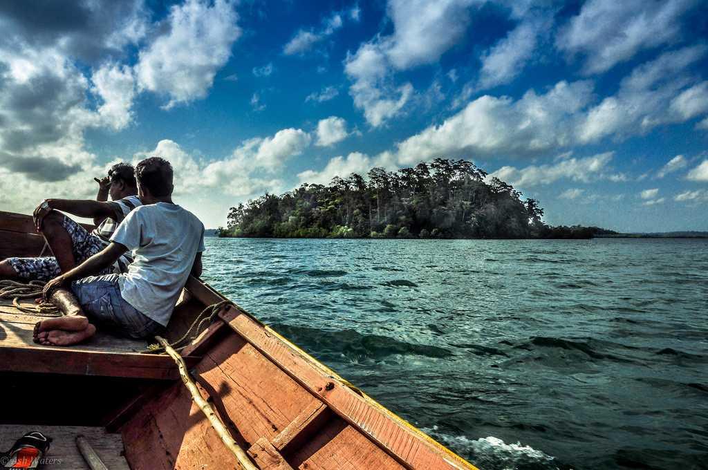 Canoe Ride in the Indian Ocean