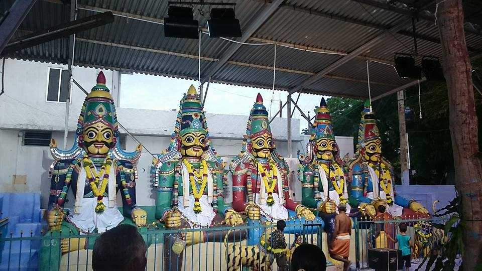 Beautifully decorated idols of Lord