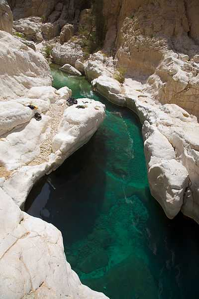 Waterway at Wadi bani Khalid