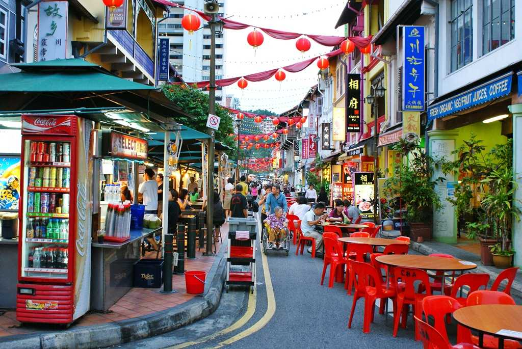 Chinatown, Singaopore with kids