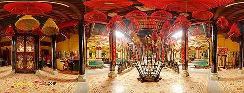 360 View of Phuoc An Hoi Quan Pagoda Ho Chi Minh City