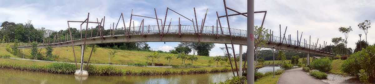 Kelong Bridge at Punggol Waterway Park