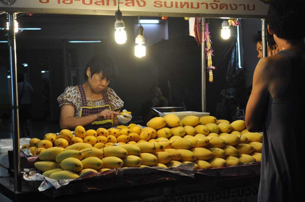 street vendor mango