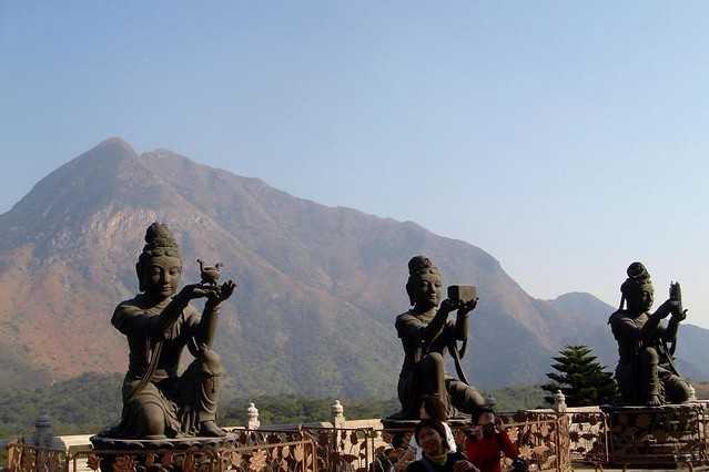 Bodhisattvas Statues at Po Lin Monastery