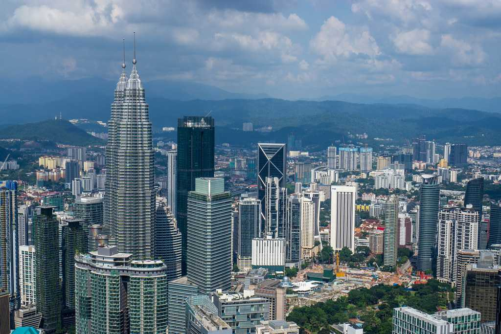 A view of Jalan Ampang District with Petronas Twin Towers