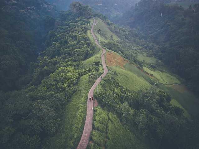Aerial view of Camphuan Ridge Walk