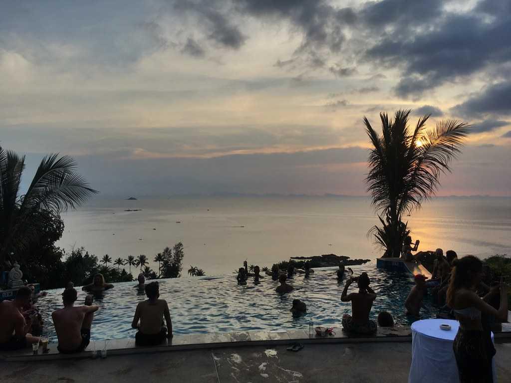 Sunset Hill Infinity Pool at Koh Phangan, Thailand