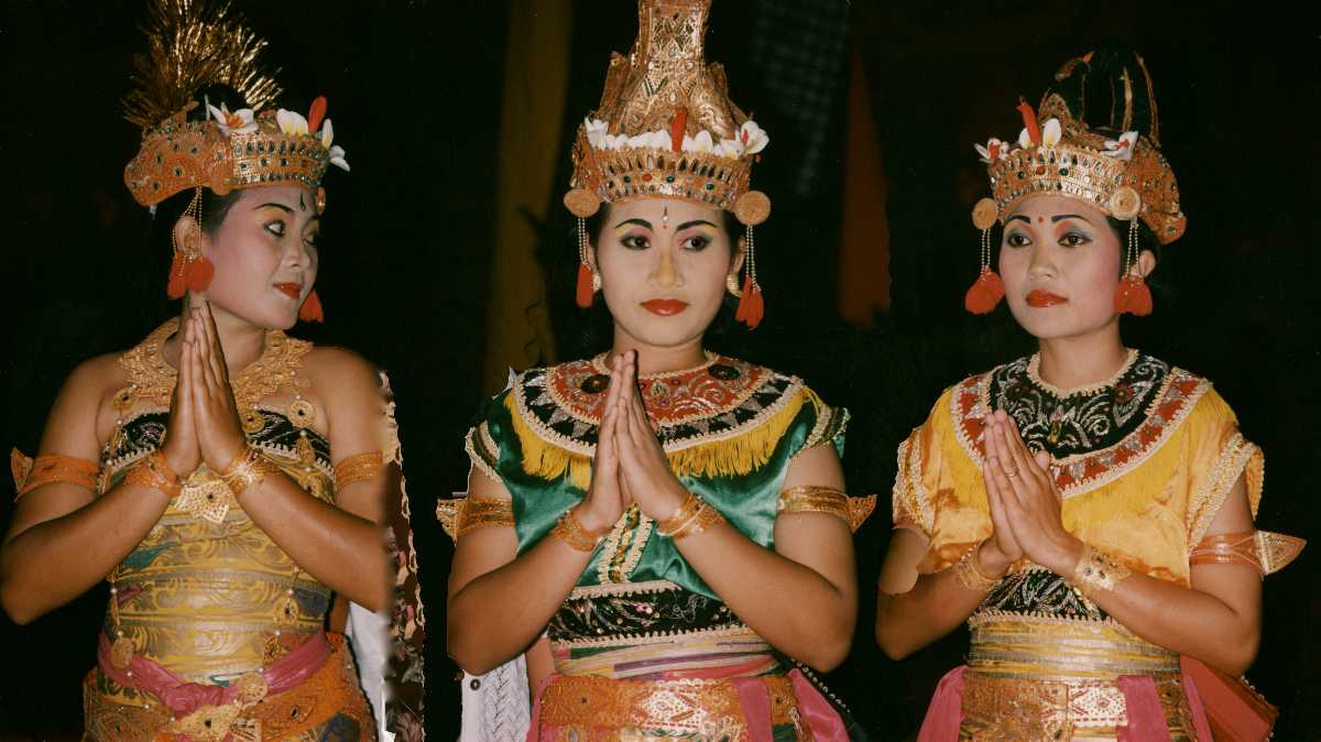 Balinese Women in Traditional Attire