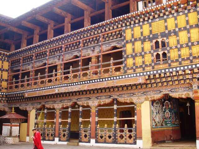Interior of Paro Dzong, Architecture in Bhutan