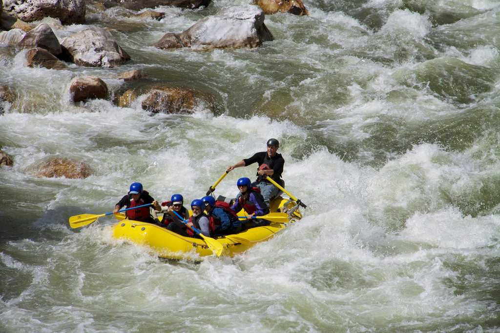 Rafting on Paro Chhu, Paro River