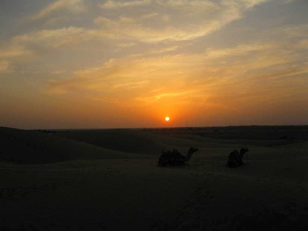 Sunset over Jaisalmer