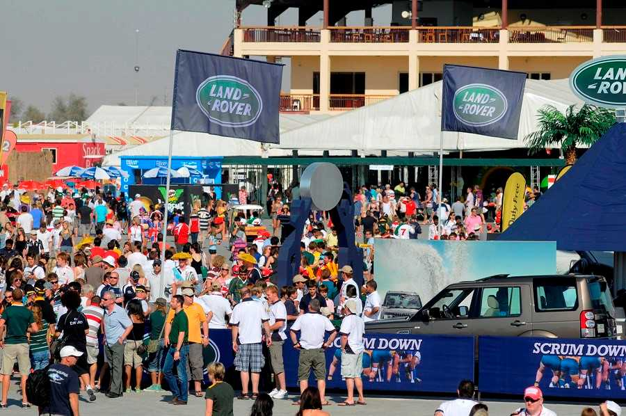 Crowd at the Rugby Village during the 2010 edition