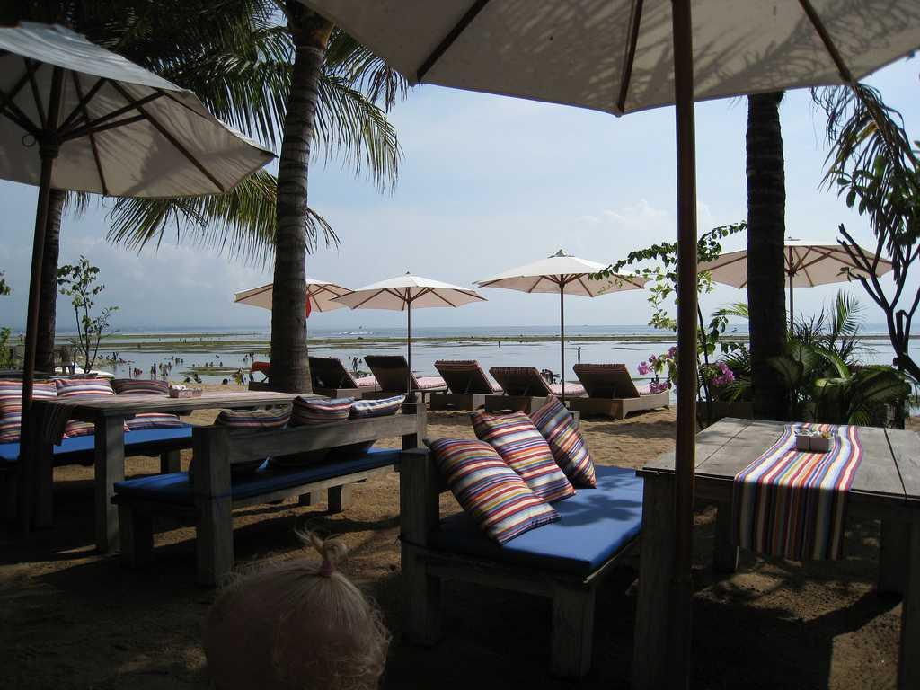 Beach Cafes at Sanur Beach Walk