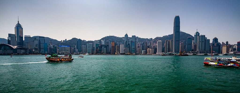 Hong Kong Skyline Across Victoria harbour