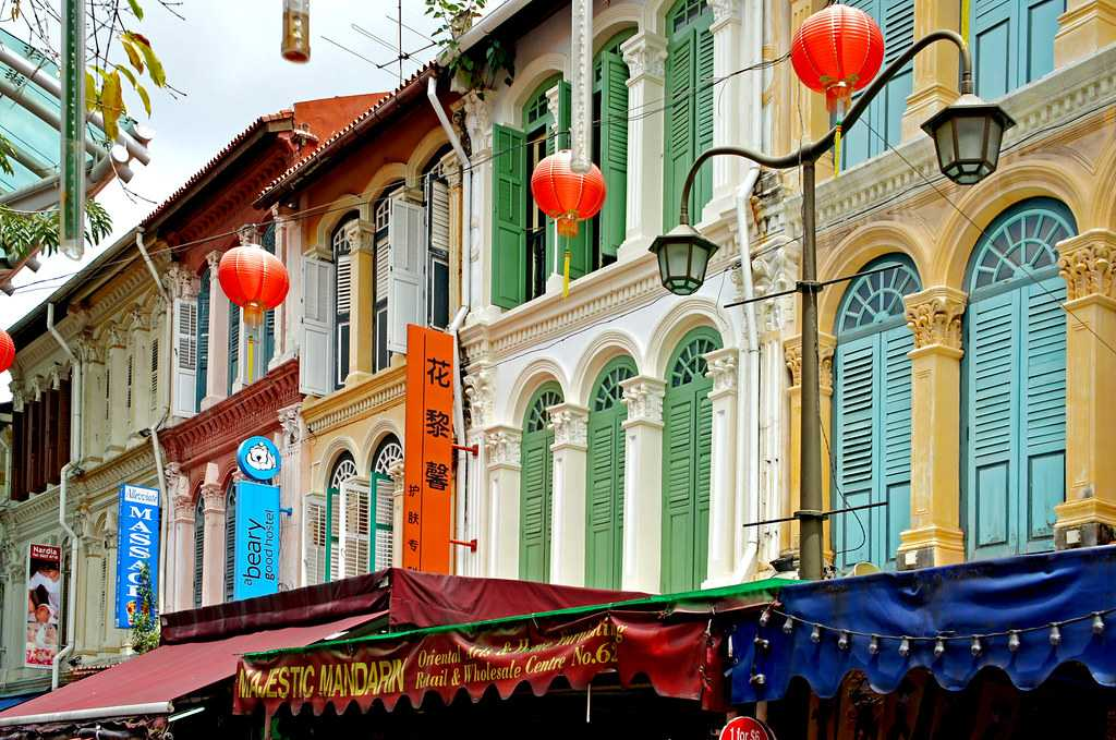 Heritage shophouses in chinatown