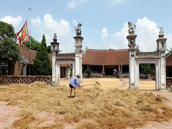 Mong Phu Communal House at Duong Lam Ancient Village Hanoi Vietnam