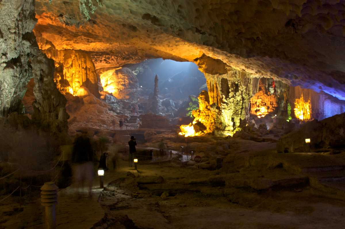 Hospital Cave in Ha Long Bay