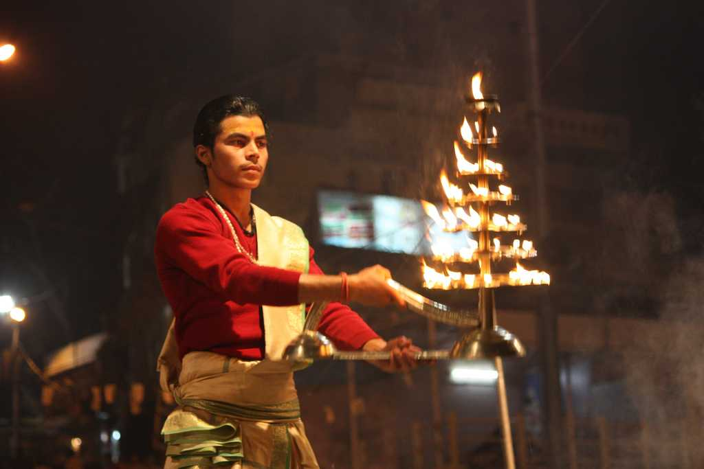 A glimpse of Ganga Aarti at Varanasi
