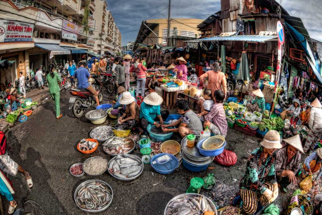 Wet Market of Binh Tay Market