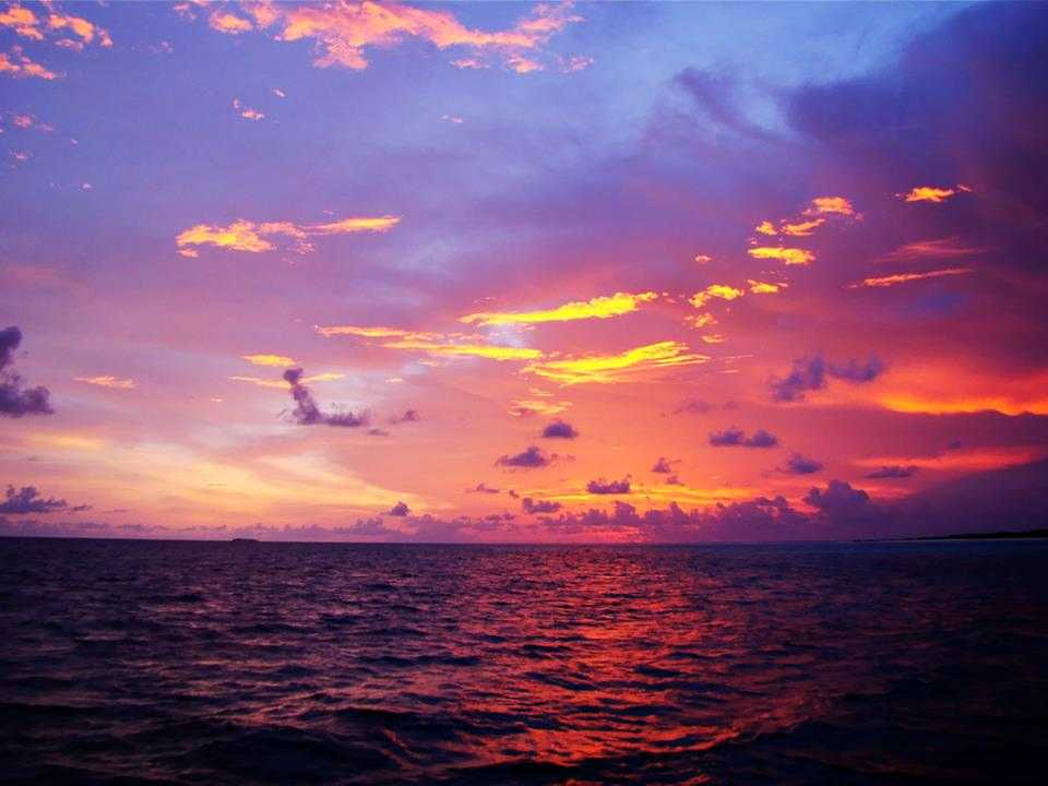 Sunset at Baa Atoll