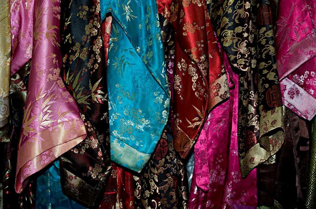 Silk Robes, Van Phuc Silk Village, Hanoi, Vietnam