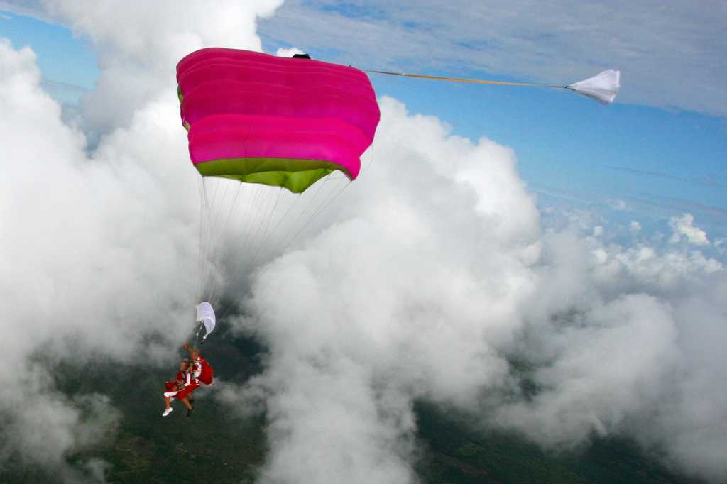 Skydiving in Mauritius