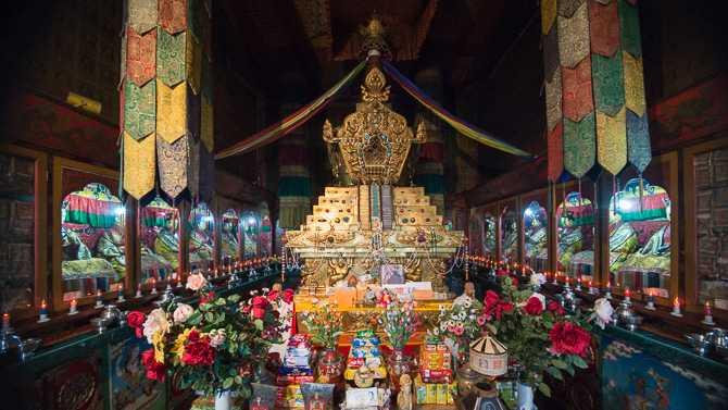 Rumtek Monastery Golden Stupa