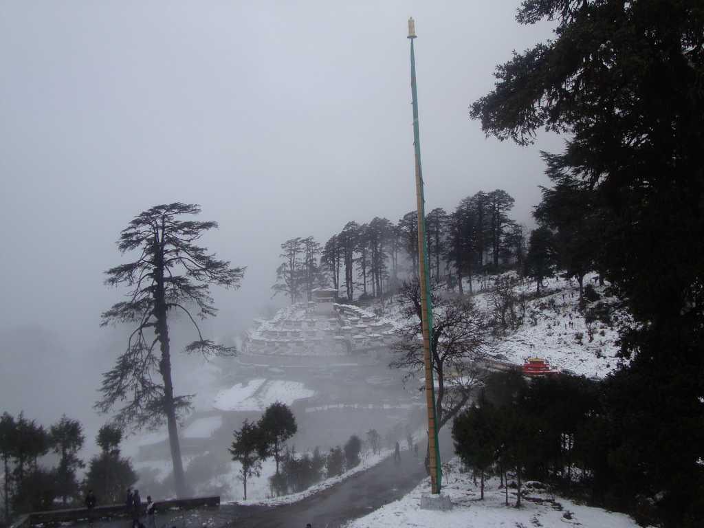 Snow in Dochula Pass Bhutan