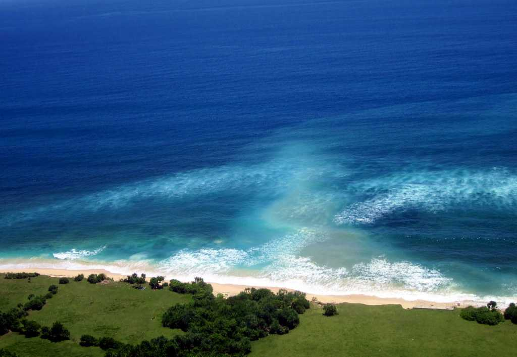 Aerial view of Nyang Nyang Beach