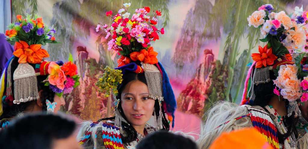 Ladakhi woman in traditional attire