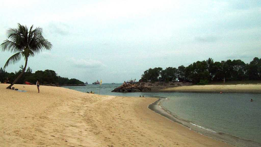 Punggol Beach, Singapore in March